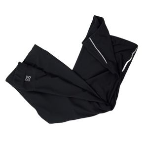 3/$20 Actra Black Running Reflective Capri Legging